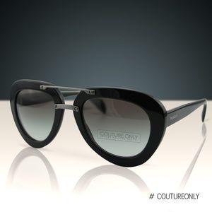 New Prada SPR28RS Gradient Aviator 52mm Sunglasses